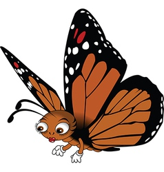 Red buttefly cartoon vector