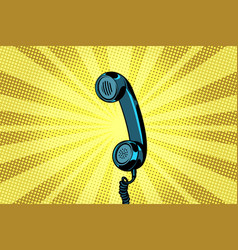 Retro handset pop art background vector