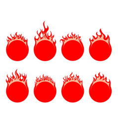 Round fire icon vector