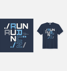 run wild t-shirt and apparel design print vector image