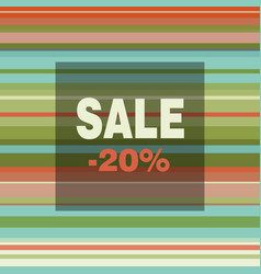 Sale banner with colorful stripes vector