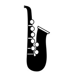 saxophone instrument on white background vector image