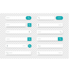 Search bar input lines with find buttons vector