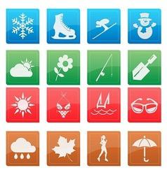 season activity icon set vector image