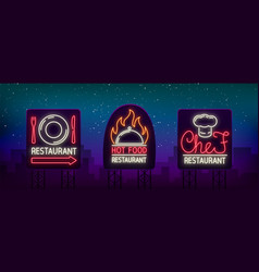set logos labels for restaurant the vector image
