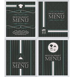 Set of restaurant menu design cover template in vector