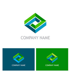 shape 3d geometry logo vector image