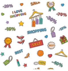 Shopping icon pattern vector