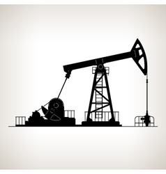 Silhouette Pumpjack or Oil Pump vector image