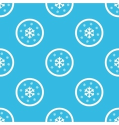 Snow sign blue pattern vector image