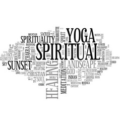 Spiritual word cloud concept vector
