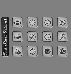 Sport balls icon set vector
