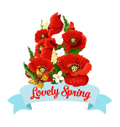 springtime flowers spring time icon vector image