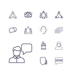 Talk icons vector