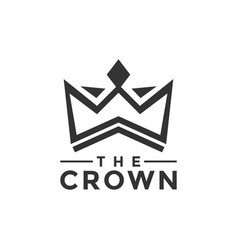 the crown logo design inspiration vector image