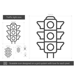 Traffic light line icon vector
