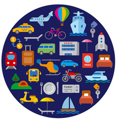 travel and transport icon vector image