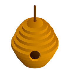 tree bee hive icon isometric style vector image