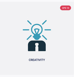 Two color creativity icon from strategy concept vector