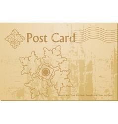 vintage art blank postcard vector image