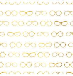White and gold glasses accessories vector