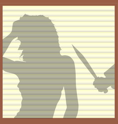 Window blinds killer vector