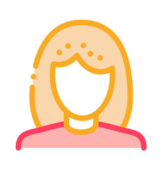 woman silhouette icon outline vector image
