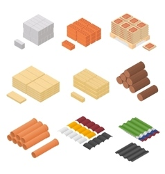 Construction Material Isometric View vector image vector image