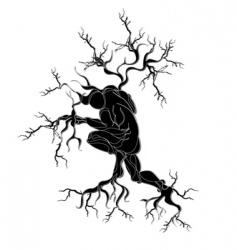 man with roots vector image vector image