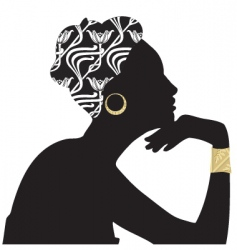 woman beautiful portrait silhouette vector image