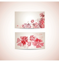 Floral business card template vector image vector image