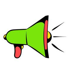 megaphone icon icon cartoon vector image vector image