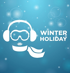 Winter holiday and icon women on blue background vector image vector image
