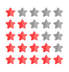 5 star rating set simple rounded shapes in grey vector image