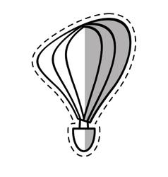 airballoon recreation vacation travel shadow vector image