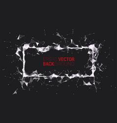 creative triangle frame vector image