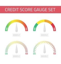 Credit score gauge set vector image