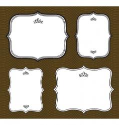 curved frame set vector image
