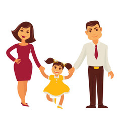 family mother father and child girl flat vector image vector image