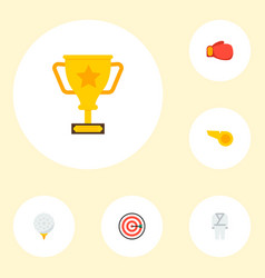 set of activity icons flat style symbols with hook vector image