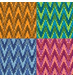 Set of Four Seamless Color Abstract Retro vector image vector image