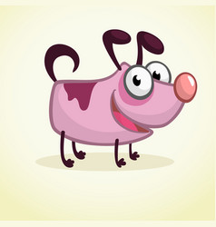 cute cartoon pink dog vector image