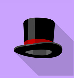 cylinder hat icon flat style vector image vector image
