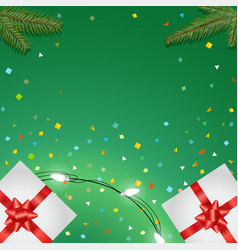 holiday greeting card templete happy holidays vector image vector image