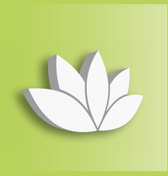 lotus flower 3d icon on green gradient background vector image vector image