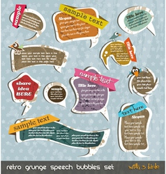 retro grunge speech bubbles vector image