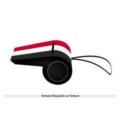 A Whistle of Yemeni Republic or Yemen vector image