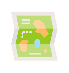 Amusement park map icon park related vector
