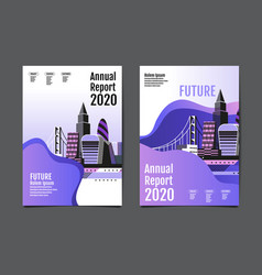 annual report 20192020 future business vector image