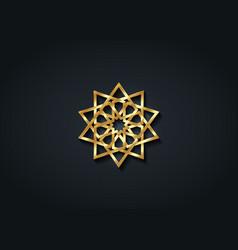 arabic decorative pattern gold islamic symbol vector image
